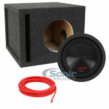 "Alpine Type-R SWR-8D2 100W 8"" Car Subwoofers + Speaker Wire + Enclosure Package"