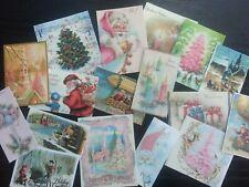B007C:Vintage images of Christmas Greeting Cards - Die Cuts Scrapbooking