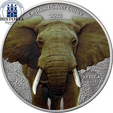 Silber Münzen mit Motiven aus Afrika