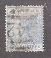 Cyprus stamp #13, used, wmk. 1, 1881, Queen Victoria, SCV $37.50