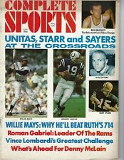 1969 Complete Sports football magazine Willie Mays Unitas Bart Starr Gale Sayers