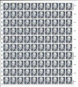 US SCOTT1393 PANE OF 100 EISENHOWER 6 CENT FACE MNH