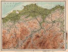 Speyside whisky région. elgin rothes Grantown keith dufftown. grande carte de 1912
