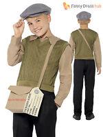 Boys 1940s WW2 Evacuee Costume World War 2 40's Kids Fancy Dress Outfit School