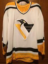 038a619c1 Pittsburgh Penguins Blank Replica ROBO Logo Jersey Size XL CCM Maska Vtg 90s  EUC