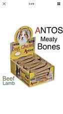 Antos Meaty Bone x 4~ 2 Lamb & 2 Beef ~ Ground Rawhide ~ Long Lasting Dog Chews