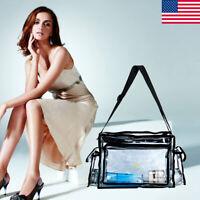 Updated Women Clear Tote Bag Bags PVC Transparent Handbag Shoulder Beach Trendy