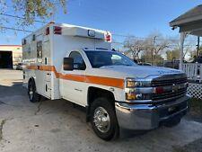 2016 Chevy Silverado 4x4 Diesel 6.6 Duramax Wheeled Coach Ambulance