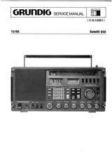 Grundig Satellit 650 Communications Radio SERVICE MANUAL