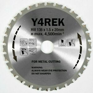 136mm x 20mm x 30T Metal Cutting TCT Saw Blade replica MakitaB-10615
