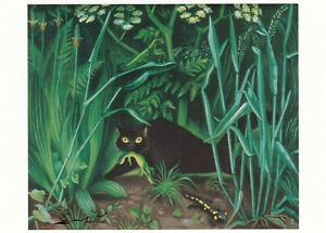 Postkarte: Richard Seewald - Katze mit Salamander / 1933