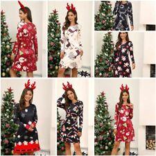 Vestido de noche Manga larga para mujer de Navidad Fiesta Cóctel vestidos Floral Invierno