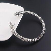 Viking Wolf Bracelet Two Headed Wolf Men Bangles Wristband Fashion Jewelry 2019