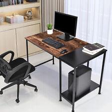 Schreibtisch Computertisch Mit Lagerung Büromöbel Büro Arbeitstisch Esstisch NEW