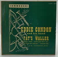 Eddie Condon Fats Waller 45 RPM Record Commodore CEP-43 Vintage Jazz  21-38