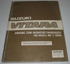 Werkstatthandbuch Anhang Suzuki Vitara 5 Türen Bremsen Motor Getriebe Elektrik!