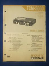 Sony TC-M5000 Cassette Service Manual Factory Original The Real Thing
