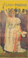 Original Vintage Poster French Pal Life of Pleasure Theatre 1893