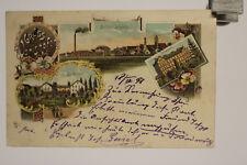 alte AK Ansichtskarte  Gruß aus Wörishofen Bahnhofplatz Bad Kreuzer 1898