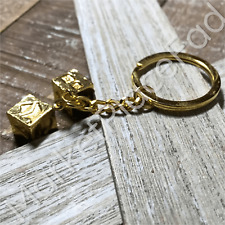 Star Wars Keychains Metal Car Accessory Ring Lanyard Han Solo Lucky Gold Dice