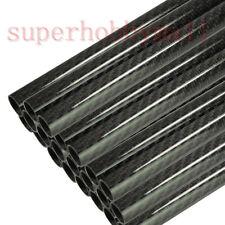 10pcs  Roll Best Carbon Fiber Tube 3K 10mm*12mm*350mm for RC Airplane
