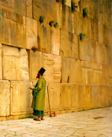 The Wailing Wall by Jean-Léon Gérôme 75cm x 61.6cm Canvas Print