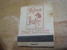 Vintage Lobos Lodge Ocean View at Monte Verde Carmel California matchbook