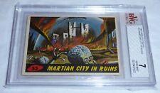1962 Mars Attacks Card #53 Martian City In Ruins BVG 7 Like PSA Aliens UFO Topps