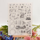Christmas Snowman Transparent Clear Silicone Stamp DIY Diary Scrapbooking Card