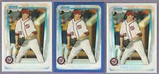 Lot of 3 2011 Bowman Chrome #BDPP11 Refractors Mike Wright w/ Blue #/199 Orioles