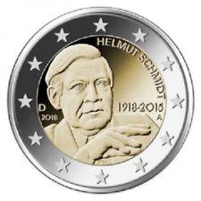 2 EURO COMMEMORATIVA GERMANIA 2018 HELMUT SCHMIDT ZECCA D FDC UNC