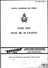 Rolls-Royce Nene Aero Jet Engine Parts Service manual archive 1950's rare detail