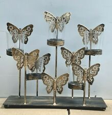 """Metal Candle Holder Table Top Butterfly T Light Candle Holder Home Decor 12x11"""""""