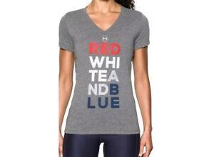 Womens Under Armour Tech Freedom heatgear  Tee shirt size  Large