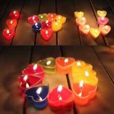 9pcs Valentine's Day Heart shape Scented Candle Courtship Candlelight dinner
