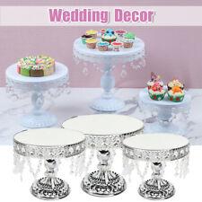 Crystal Alloy Cake Dessert Holder Cupcake Stand Wedding Birthday Party Display