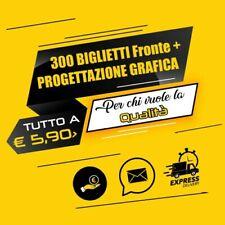 STAMPA 300 BIGLIETTI DA VISITA SOLO  FRONTE  350 gr+ Progettazione grafica