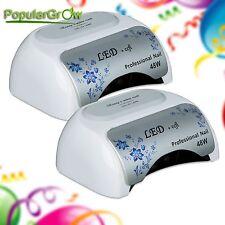 2Pcs PopularGrow 48W CCFL& LED Gel Nail Lamp UV Cure Dryer Light Timer Polish