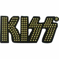 KISS - GOLD LOGO - EMBROIDERED PATCH - BRAND NEW - MUSIC BAND 4635