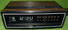 Vintage GE Flip Number Alarm Clock AM/FM Radio Model 7-4305B Works/No FM