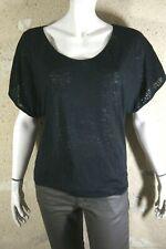 NAF NAF Taille XS 34 Superbe blouse manches courtes noire haut top tee shirt
