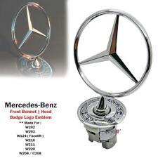 Silver Mercedes-Benz Star Hood Logo Emblem Badge 3D w210 w220 w221 w204 Silver