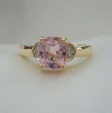 Unenhanced Rare Certified Pink Pamir Spinel & Diamond Gold Ring