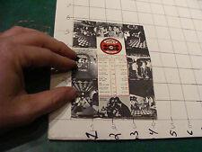 vintage ISRAEL CLUB CARD folded postcard w Menu v cool