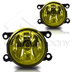 For 12-17 Subaru Impreza Replacement Fog Lights Front Bumper Lamps - Yellow