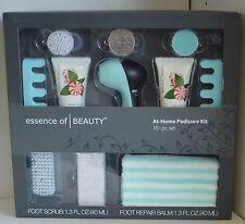 NEW 10 PC Essence of BEAUTY Pedicure Kit Foot REPAIR Scrub Balm WOMEN Men Brush