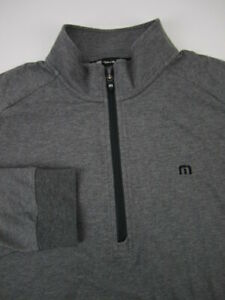 Mens XL Travis Mathew 1/4 zip heather gray golf pullover