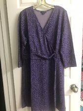 New In Packaging (without tags) Size 18 Lands' End Purple Dress