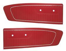 Mustang Door Panels Standard Vinyl Pair 1964 1965 Bright Red (1965) - TMI