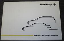 Gebruikershandleiding Opel Omega B2 Betriebsanleitung Onderhoud Stand 08/1999!